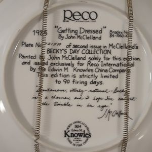 braford Exchange Accents - Limited edition Collectible plate with certificate